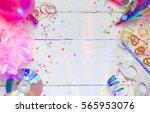 carnival birthday party... | Shutterstock . vector #565953076