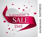 satin curly ribbon. valentine... | Shutterstock .eps vector #565958032