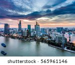 ho chi minh city  aerial view | Shutterstock . vector #565961146
