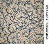 abstract pattern. curly waves... | Shutterstock .eps vector #565961536