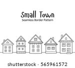 seamless vector pattern with... | Shutterstock .eps vector #565961572