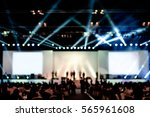 blurred background of event... | Shutterstock . vector #565961608