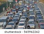 ha noi  jan. 26  2017  traffic...   Shutterstock . vector #565962262