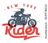 motorcycle rider t shirt... | Shutterstock .eps vector #565978012
