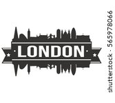 london skyline stamp silhouette ... | Shutterstock .eps vector #565978066