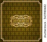 invitation vintage card. golden ... | Shutterstock .eps vector #565980682