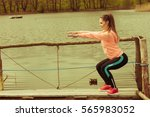 sports and activities concept.... | Shutterstock . vector #565983052