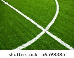 soccer field with white lines... | Shutterstock . vector #56598385