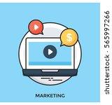 marketing vector icon  | Shutterstock .eps vector #565997266