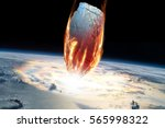 a massive asteroid enters earth'... | Shutterstock . vector #565998322