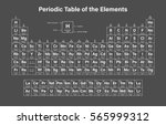 periodic table of the elements... | Shutterstock .eps vector #565999312