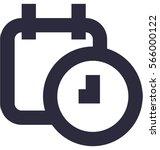 timetable vector icon  | Shutterstock .eps vector #566000122