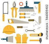 home repair tools icons.... | Shutterstock .eps vector #566005402