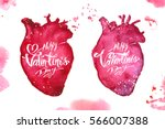 greeting card   happy valentine'... | Shutterstock .eps vector #566007388