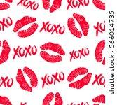 lipstick kisses and xoxo  hugs... | Shutterstock .eps vector #566014735