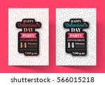 poster valentine's day party... | Shutterstock .eps vector #566015218