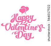 happy valentines day hand... | Shutterstock .eps vector #566017522