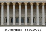 neoclassical colonnade with... | Shutterstock . vector #566019718