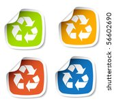 vector recycle stickers | Shutterstock .eps vector #56602690