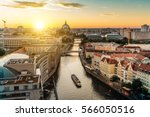 Small photo of view over river on Berlin skyline with Berlin Cathedral