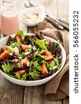 Healthy And Colorful Salad Wit...