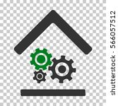 green and gray workshop... | Shutterstock .eps vector #566057512