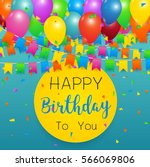 birthday background with... | Shutterstock .eps vector #566069806