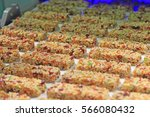 muesli bars with dried fruit on ... | Shutterstock . vector #566080432