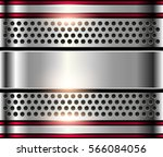 silver metal background  shiny... | Shutterstock .eps vector #566084056