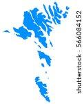 blue map of faroe islands   Shutterstock .eps vector #566084152