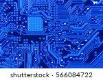 electronic circuit board close... | Shutterstock . vector #566084722