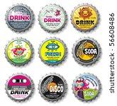 colorful bottle caps 9   vector ... | Shutterstock .eps vector #56608486