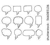 speech bubble hand drawing icon | Shutterstock .eps vector #566085136