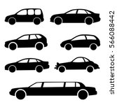 cars. set of vector silhouettes. | Shutterstock .eps vector #566088442