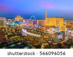 Stock photo aerial view of las vegas strip in nevada as seen at night usa 566096056