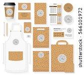 coffee shop corporate identity...   Shutterstock .eps vector #566101972