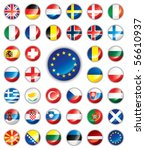 glossy button flags   europe....