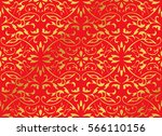 seamless golden chinese... | Shutterstock .eps vector #566110156