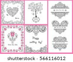 decorative greeting cards for... | Shutterstock .eps vector #566116012