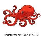 cartoon octopus | Shutterstock .eps vector #566116612