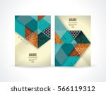 banners with abstract retro... | Shutterstock .eps vector #566119312