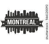 montreal skyline stamp... | Shutterstock .eps vector #566120092