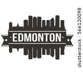 edmonton skyline stamp... | Shutterstock .eps vector #566120098