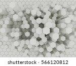 white geometric hexagonal... | Shutterstock . vector #566120812