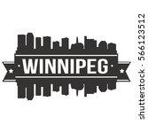 winnipeg skyline stamp... | Shutterstock .eps vector #566123512