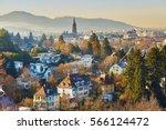 beautiful panorama of freiburg...   Shutterstock . vector #566124472