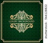 invitation vintage card. golden ... | Shutterstock .eps vector #566128822