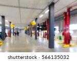 auto repair shop in bokeh ... | Shutterstock . vector #566135032