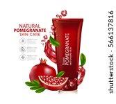 Pomegranate Skin Care Cosmetic.