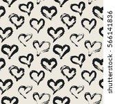 seamless heart pattern. hand... | Shutterstock .eps vector #566141836